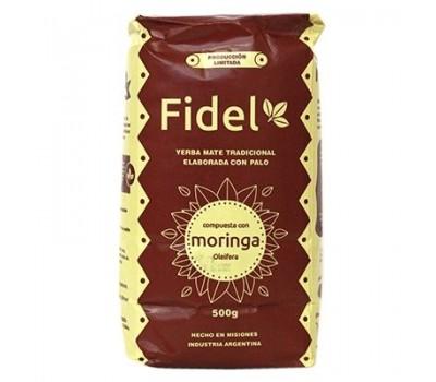 FIDEL yerba mate with moringa 500g