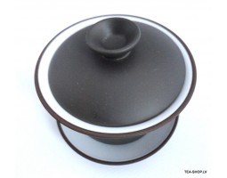Simple brown gaiwan middle size